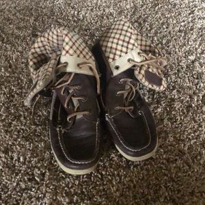 Sperry Boot Shoes Leather Plaid
